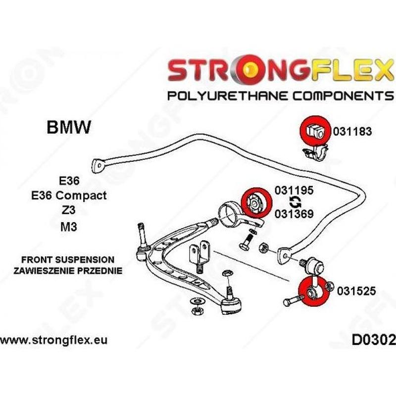 StrongFlex - 031369A - Delantero Inferior M3 E36 excéntrico SPORT: Servicios y Productos de Sirius Tuning