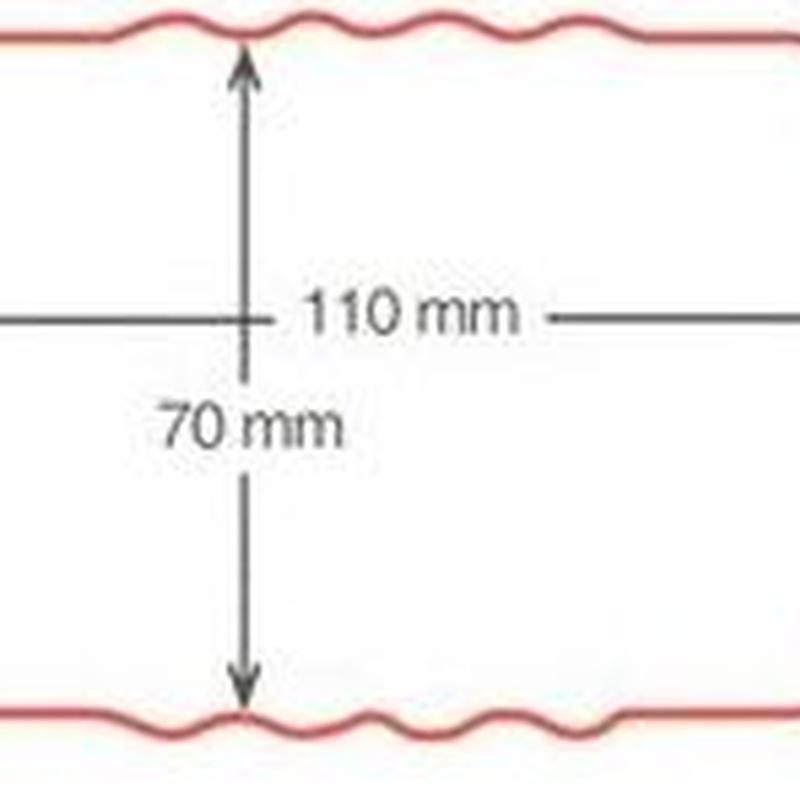 Bajante rectángular 70x110