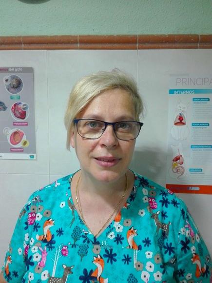 Guadalupe Casas. Veterinaria licenciada por la UCM en 1992. Responsable del centro.