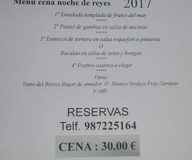 CENA NOCHE DE REYES