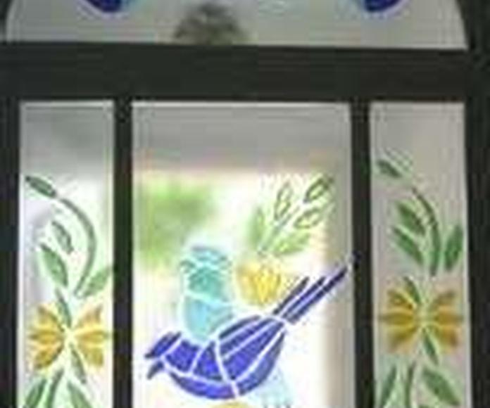 Vidrieras artísticas: Servicios de Carpintería de Aluminio y Cristalería Joisa