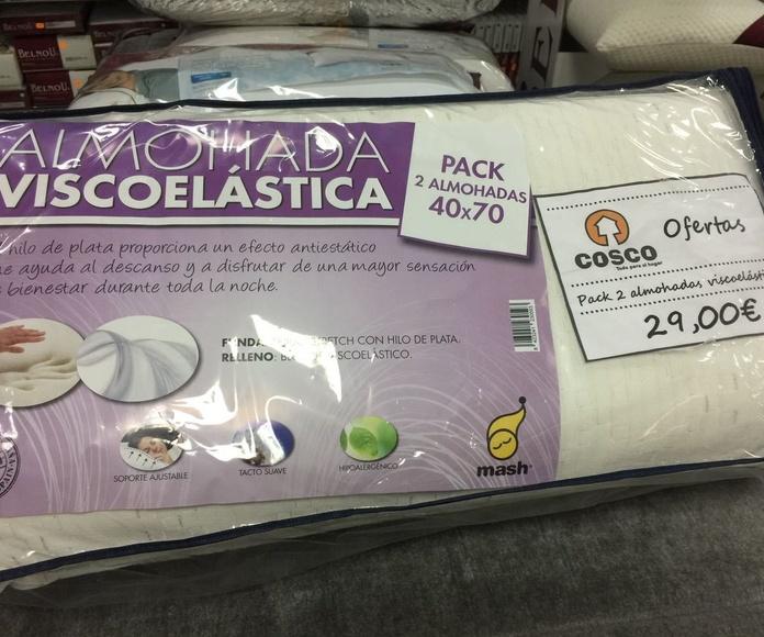 Oferta pack 2 almohadas viscoelasticas