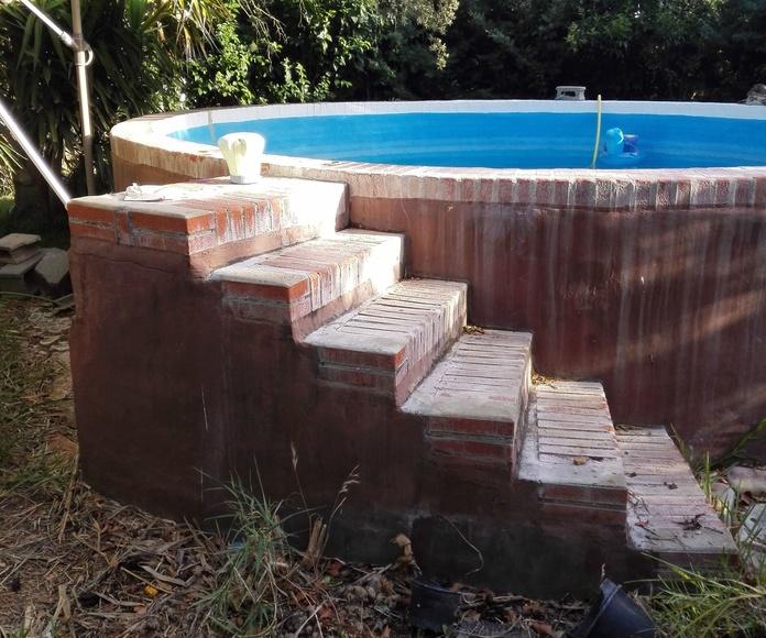 Barandilla piscina aluminio por adaptar