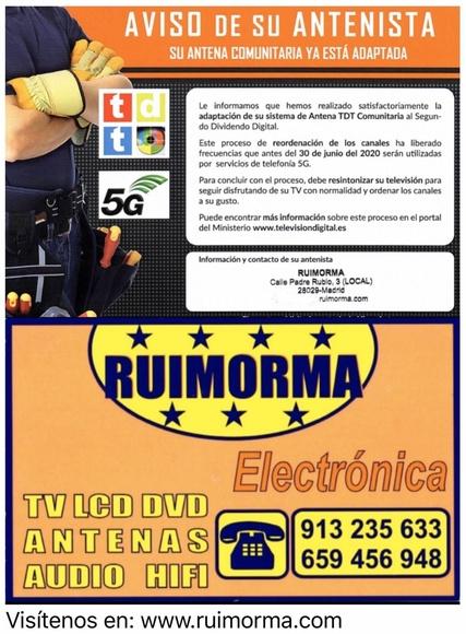 RUIMORMA reparación de antenas en Plaza de Castilla con la TDT-2