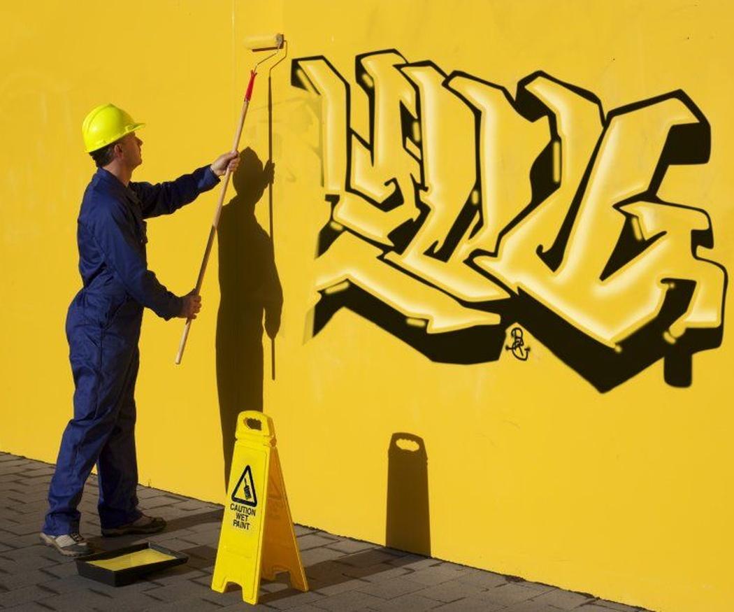 La limpieza de los graffitis