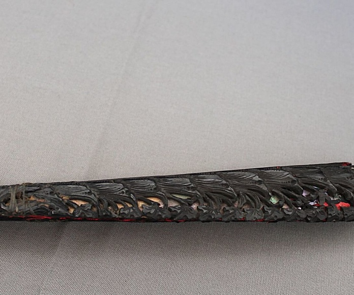 Pericón finales S.XIX de ébano y seda.: Artículos  de Ruzafa Vintage