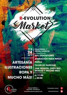 R-evolution Market, Mercadillo de artesanía, ilustración y ropa