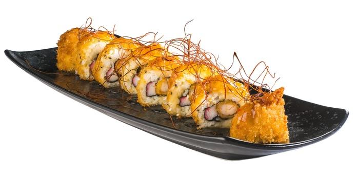 California panko de langostino con salsa agripicante  8,90€: Carta de Restaurante Sowu