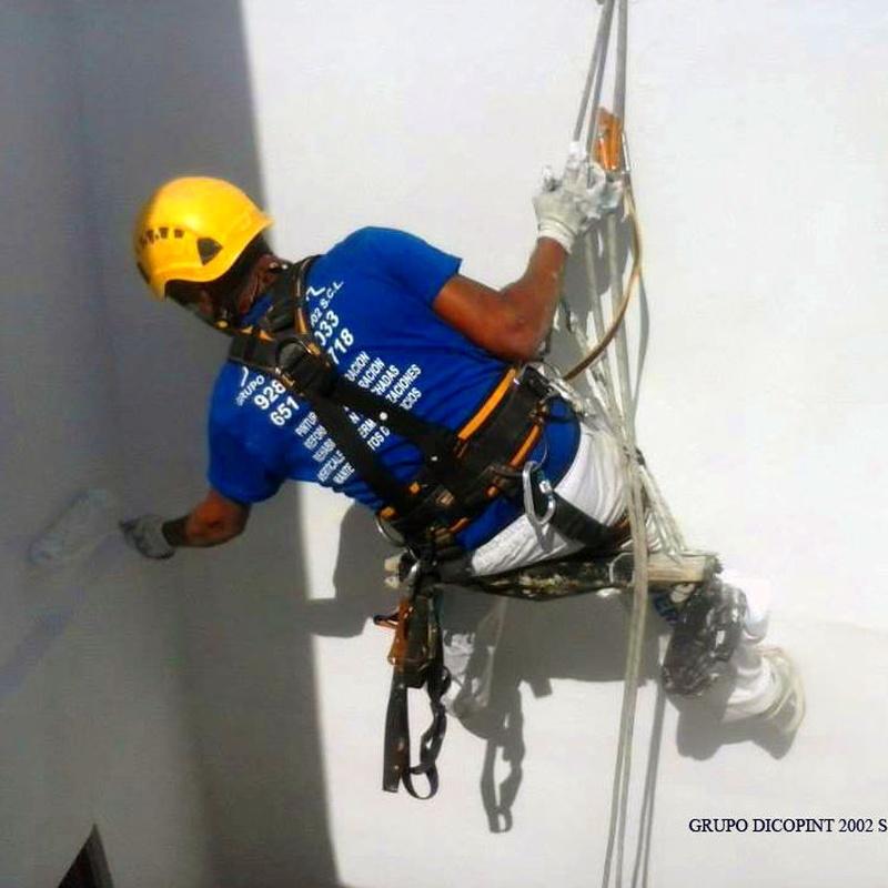 Trabajos mediante técnica vertical: Servicios de Grupo Dicopint 2002, S.C.L.