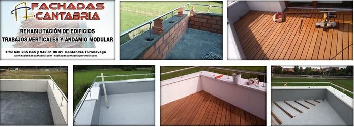 Impermeabilización de terraza y acabado con tarima de madera IP.