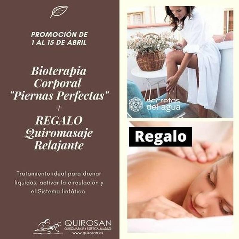 "Bioterapia Corporal ""Piernas Perfectas"" + Regalo de Quiromasaje Relajante: Servicios de Quirosan"