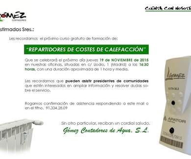 CURSO DE FORMACION DE REPARTIDORES DE COSTES DE CALEFACCION