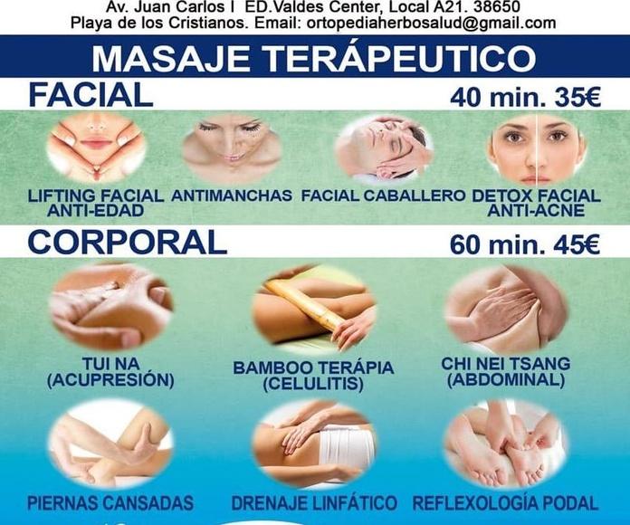 Masajes Terapéutico: Tratamientos y productos de Herbosalud