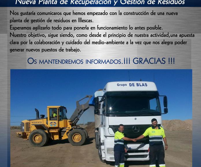 Nueva Planta de Recuperación y Gestión de Residuos de Grupo de Blas Recuperaciones,S.L.