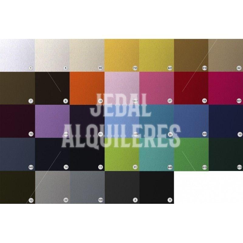 Manteles lisos para mesas rectangulares: Catálogo de Jedal Alquileres