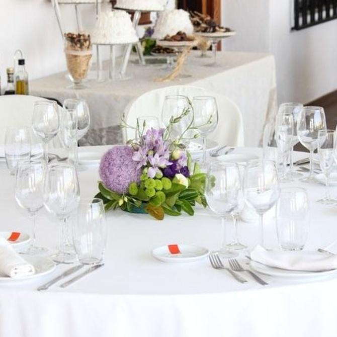 Elegir el menú de la boda