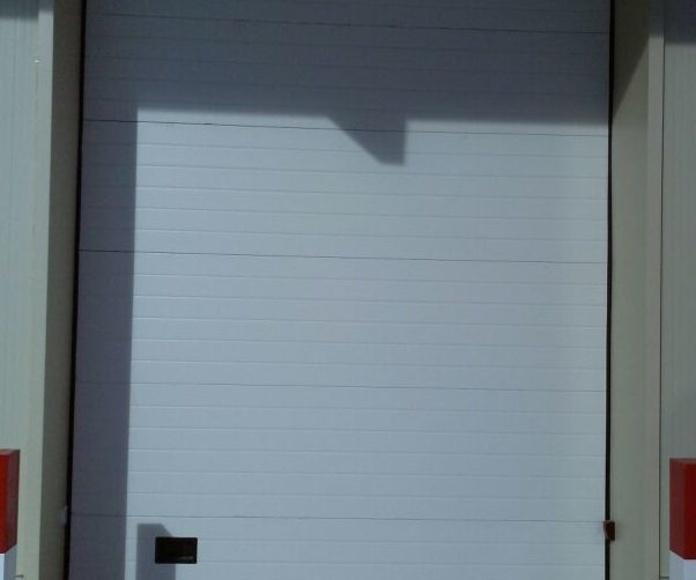Puerta seccional industrial.