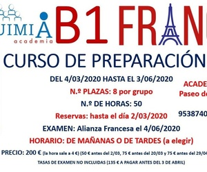 B1 DE FRANCÉS. Curso de preparación. (Examen Alianza Francesa 4/06/2020)