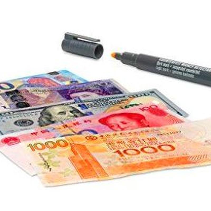 Tres bolígrafos detector de billetes falsos SAFESCAN 30 8717496332158