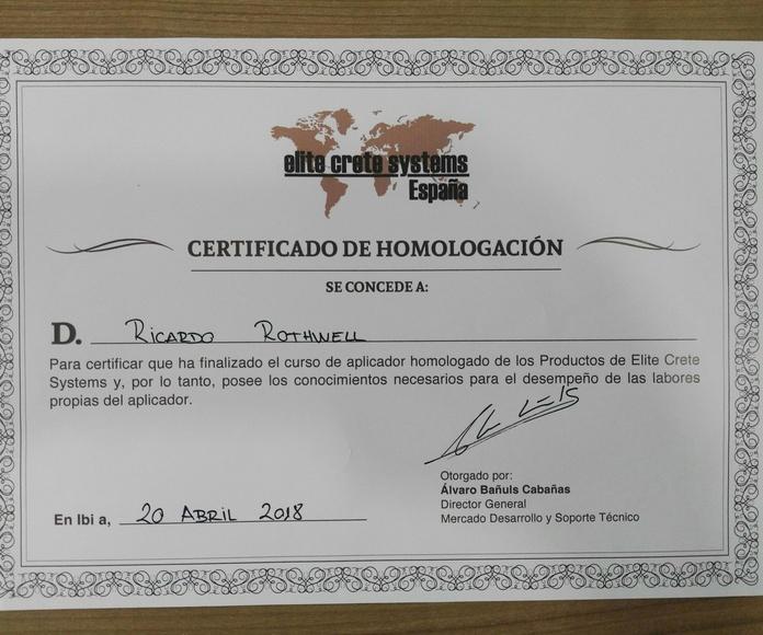 Certificación Elite Crete Systems España - Suelos continuos