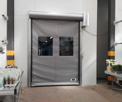 Puerta de apertura rápida de lona de pvc enrollable y autorreparable en Silla Valencia