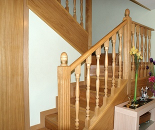 Escaleras de madera a medida