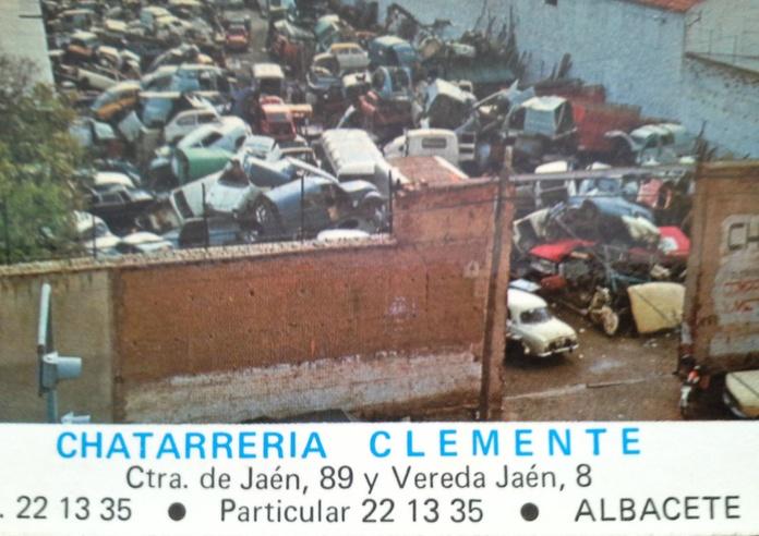 Foto de Chatarras Clemente en vereda Jaen de albacete años 70