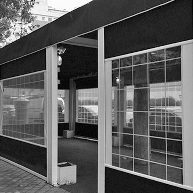 Cerrar la terraza del bar
