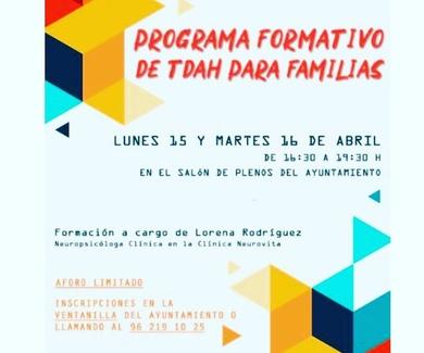Programa formativo de TDAH para Familias en Ayora