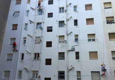 Reforma  de fachadas descuelgue vertical Torrelavega-Santander