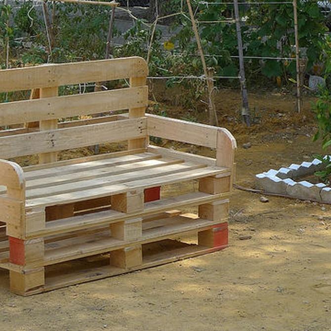 ¿Cómo puedes reutilizar los palets de madera?