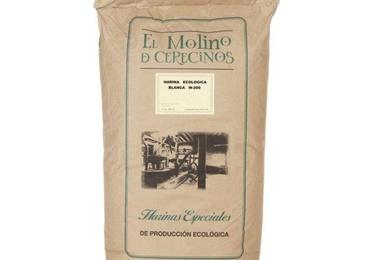 Harina de trigo ecológica blanca W-200 25 kg