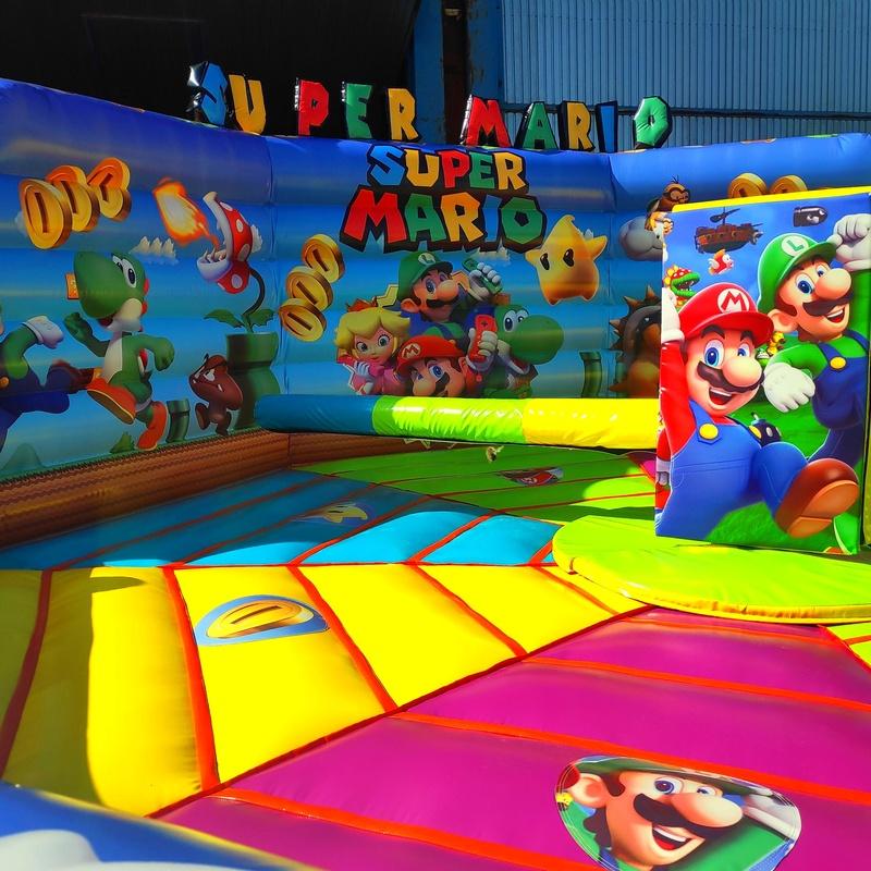 Eliminator Mario bros 8 metros super mario : Catálogo de Hinchables Happy Jump