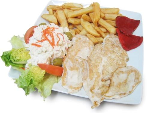 Cafetería Zalburdi en Deba, platos combinados