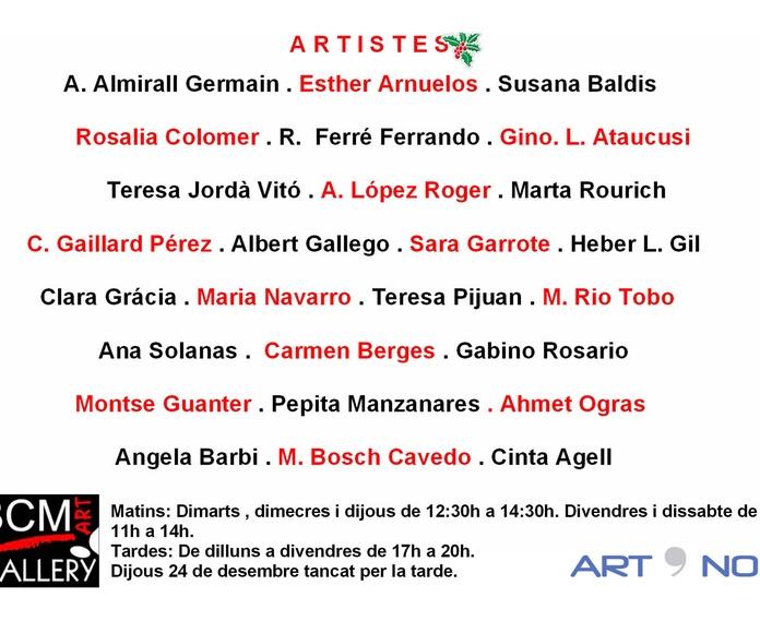 ART PER NADAL 2015: Exposiciones y artistas  de BCM Art Gallery