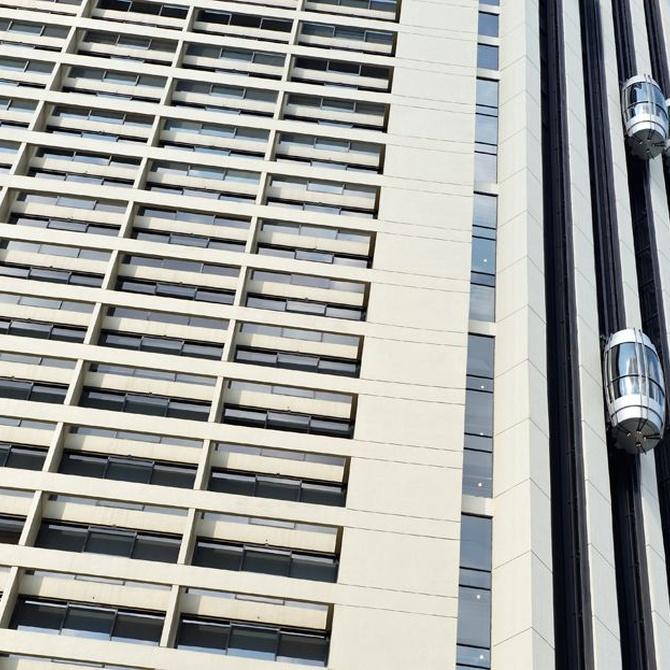 Los ascensores en fachadas