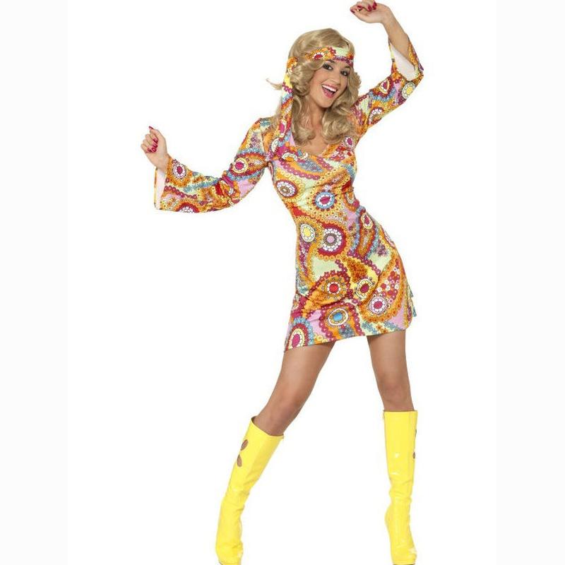 Disfraz hippie multicolor
