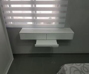 Armarios y mobiliario vivienda hecho a medida lacado en blanco brillo en Alicante