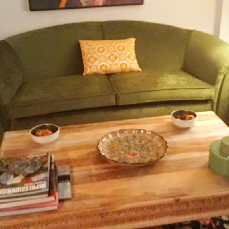 Retapizado de sofá en tejido terciopelo