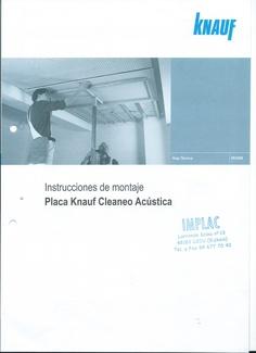 Placa Knauf Cleaneo Acústica