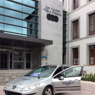 Arrancamos en Las Caldas. Con Aspaym Principado de Asturias , Euromobility y CABAL AUTOMOCION S.L.