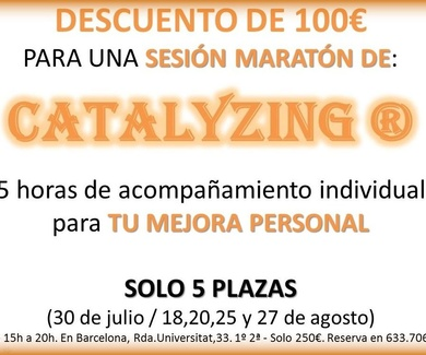 Descuento 100€ - Sesión Maratón Catalyzing - Solo 4 plazas