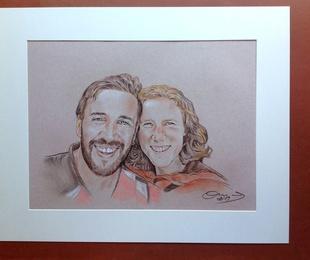 Retrato de una recién pareja muy enamorada