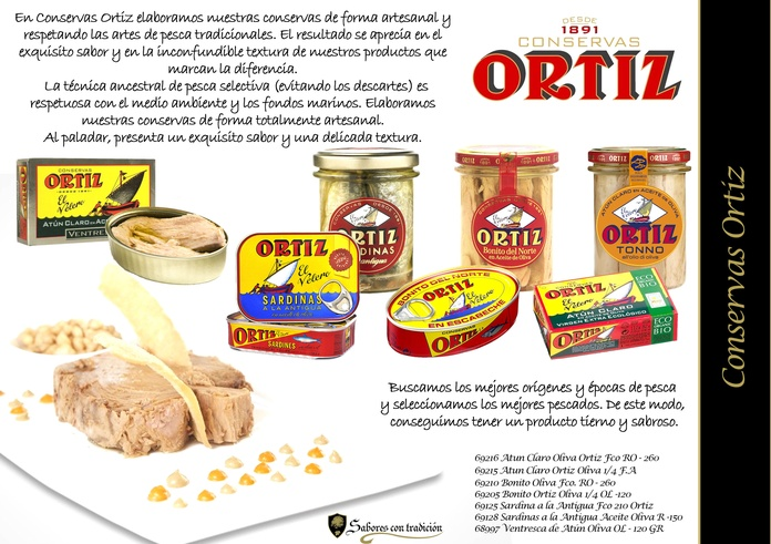 """Conservas """" Ortiz """": Productos de Sabores con tradición"""