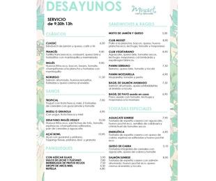 Carta desayuno Español