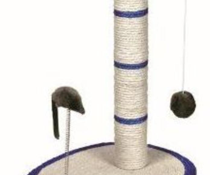 Rascador poste sisal ovalado con ratón