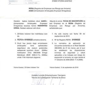 Gestión de residuos de amianto: Catálogo de RECOEX, S.L.