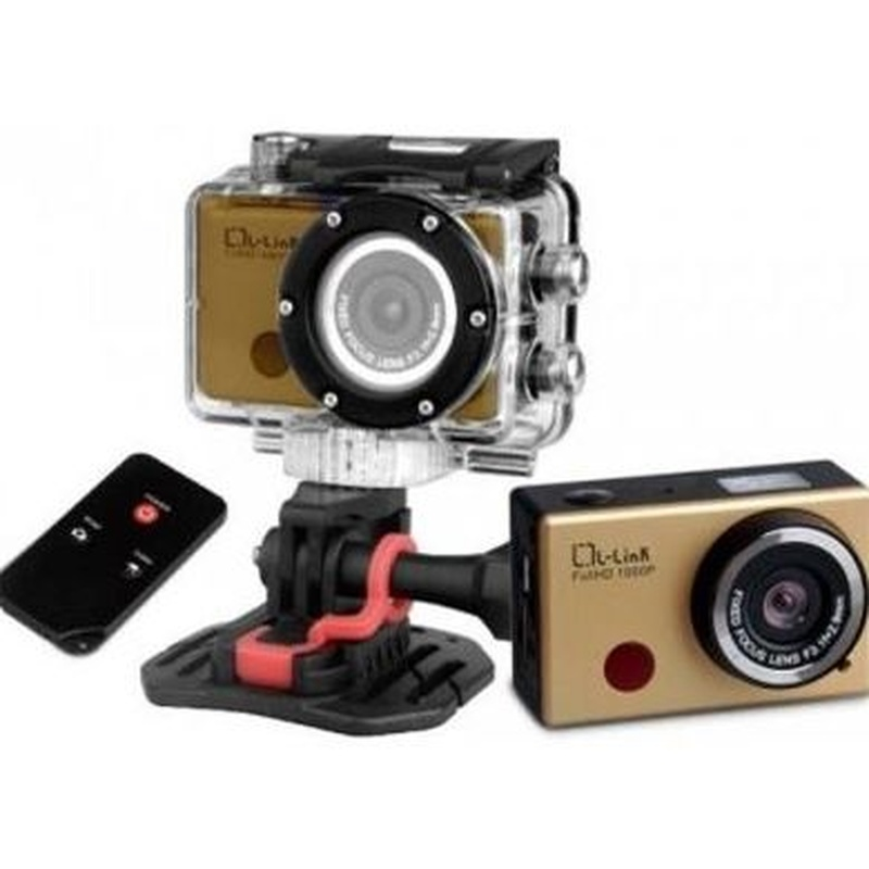 L-link Cam.deportiva FHD 1080p 30fps 8Mpx Wifi Oro