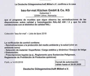 Carnet de Autorización BAU-FOR-MAT