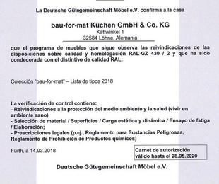 Carnet de Autorización BAU-FOR-MAT